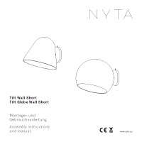 Nyta Tilt Globe Wall Short Assembly instructions and manual