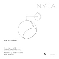 Nyta Tilt Globe Wall Notice d'installation et usage