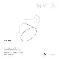 Nyta Tilt Wall Assembly instructions and manual